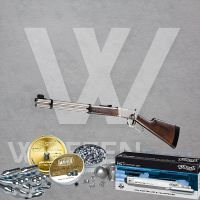 Walther Lever Action Steel Finish CO2 Gewehr Set