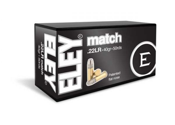 Eley Match KK-Munition Kaliber .22lr 40grs