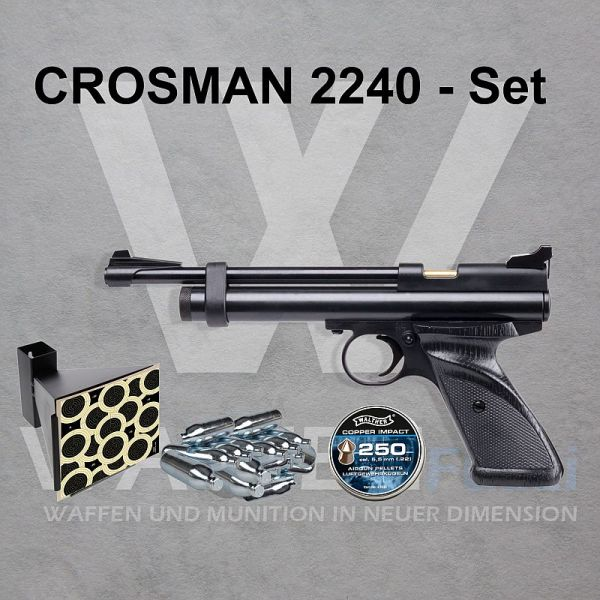 Crosman 2240 CO2 Repetierpistole Kaliber 5,5mm im Set