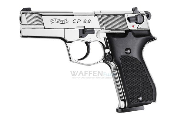 Walther CP88 Polished Chrome Kaliber 4,5mm Diabolo
