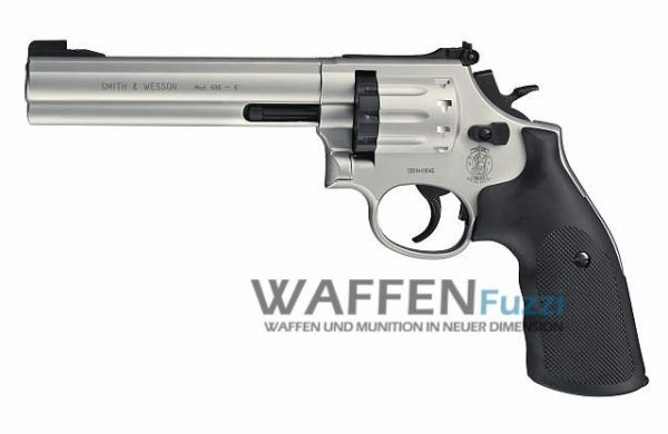 Smith & Wesson Mod. 686 CO2 Revolver 4,5 mm Diabolo 6 Zoll, vernickelt