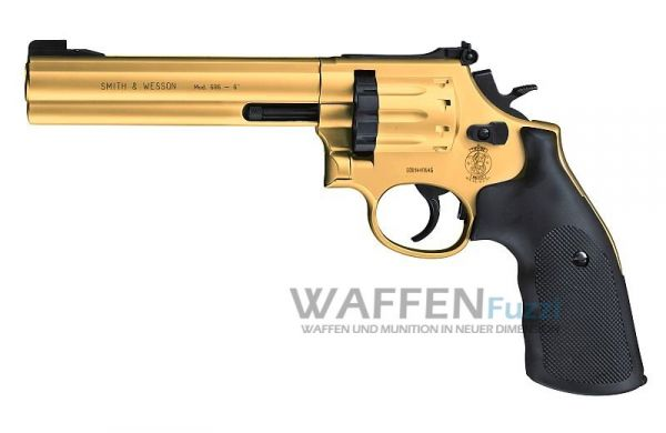 Smith & Wesson Mod. 686 Gold 6 Zoll CO2 Revolver 4,5 mm Diabolo