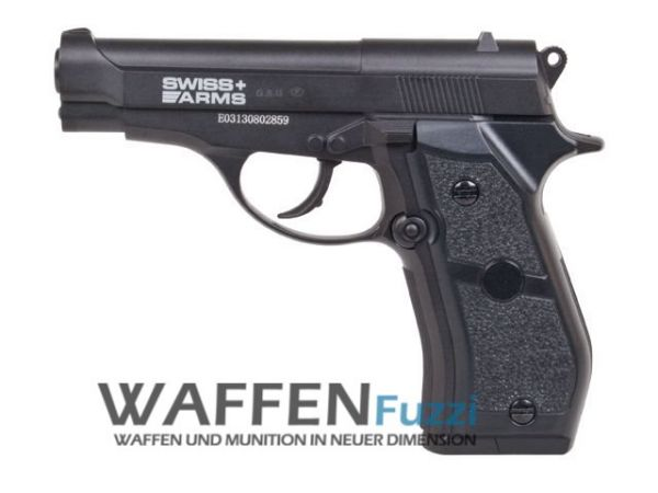 Swiss Arms P84 CO2 Pistole 4,5 mm Stahl BB Non Blow Back