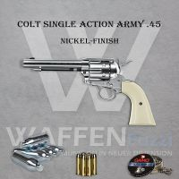 Colt Single Action Army - Nickel-Finish-Set