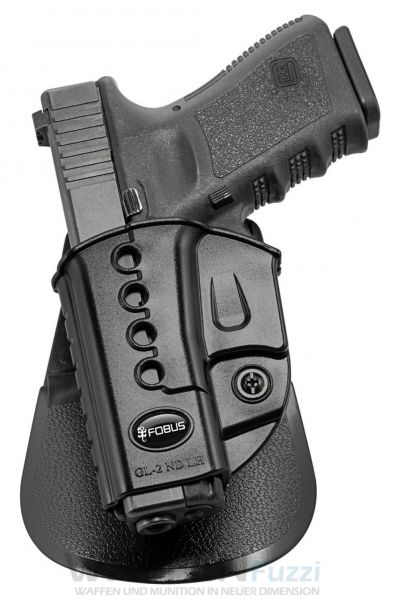 Fobus Evolution Paddle Holster LINKS für Glock Kompakt Pistolen