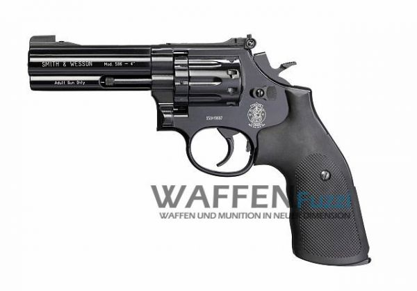 Smith & Wesson Mod. 586 CO2 Revolver 4,5 mm Diabolo 4 Zoll, brüniert