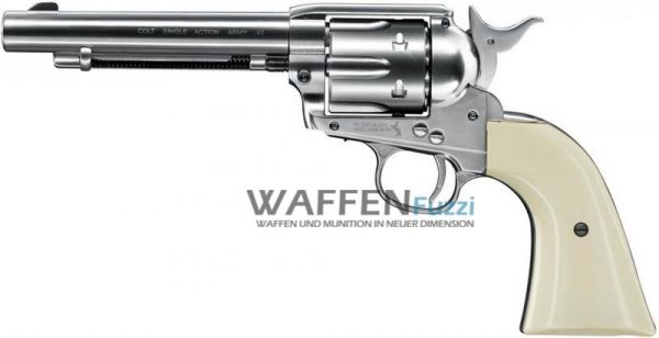 Colt Single Action Army SAA CO2-Revolver Nickel Finish Kaliber 4,5 mm Diabolo