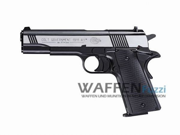 Colt Government 1911 A1 CO2 Pistole 4,5 mm Diabolo, Dark Ops