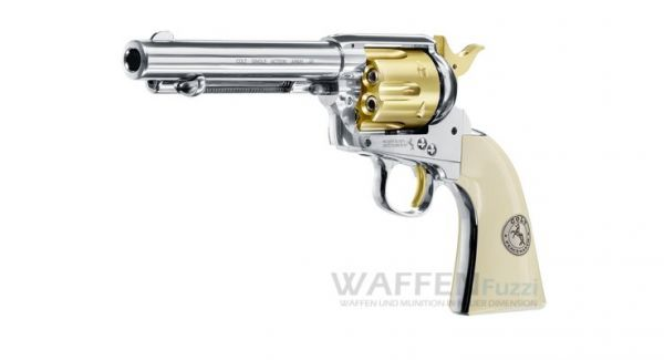 Colt SAA .45 CO2 Revolver Gold Edition Kaliber 4,5mm Diabolo