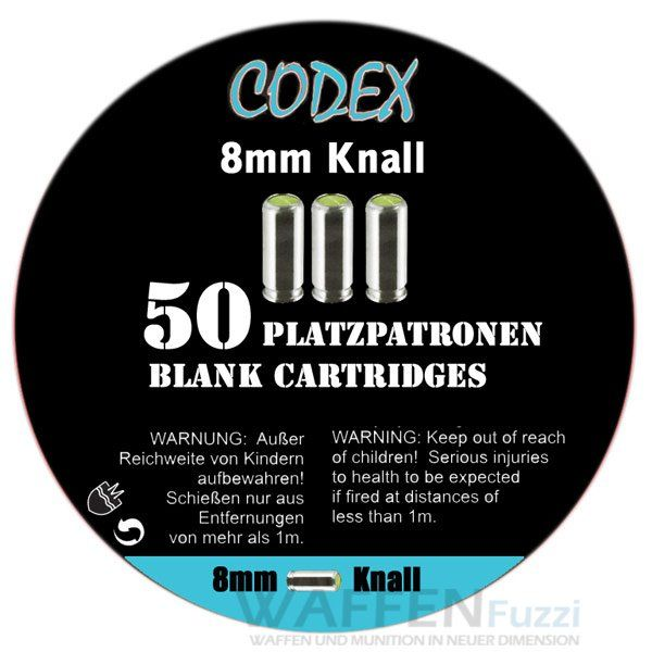 Codex Platzpatronen Kaliber 8mm Knall