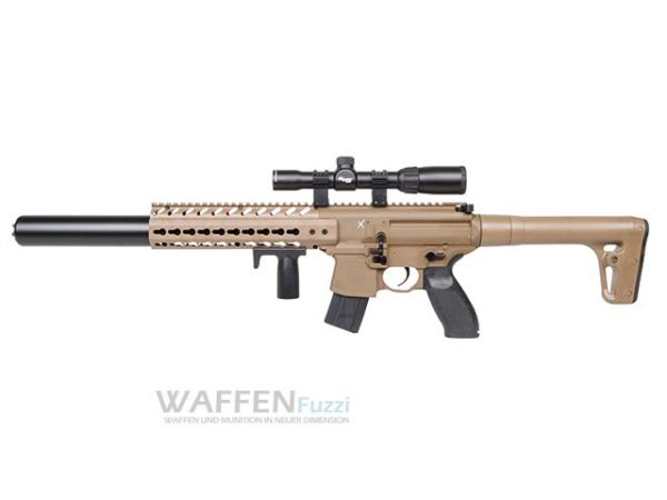 Sig Sauer MCX Dark Earth Optik CO2 Waffe 4,5mm Diabolo