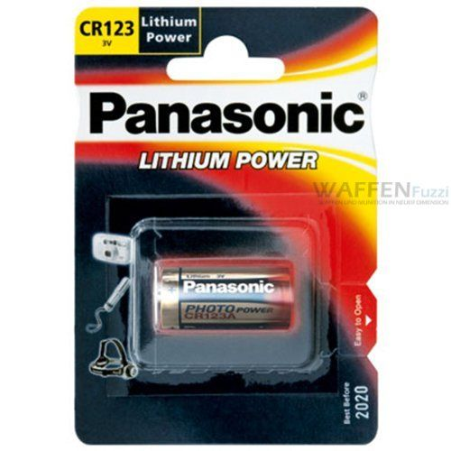 Lithium Batterie von Panasonic 3 Volt CR123A