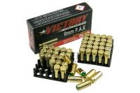 Victory Pobjeda  Platzmunition Kaliber 9mm P.A.K. brass plated