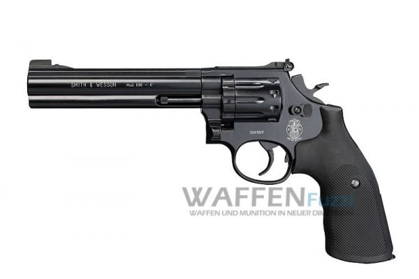 Smith & Wesson Mod. 686 Graphite Black CO2 Revolver 4,5 mm Diabolo 6 Zoll