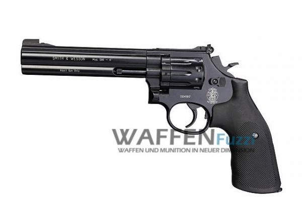 Smith & Wesson Mod. 586 CO2 Revolver 4,5 mm Diabolo 6 Zoll, brüniert