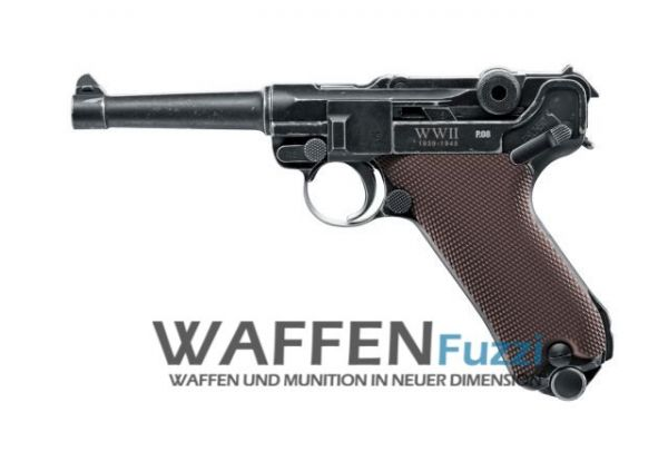 Legends P08 WWII Limited Edition 4,5 mm Stahl-BB CO2-Pistole mit Blowback