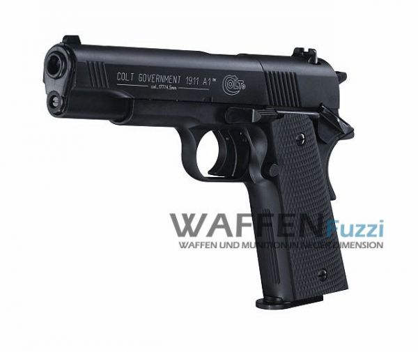 Colt Government 1911 A1 CO2 Pistole 4,5 mm Diabolo, brüniert